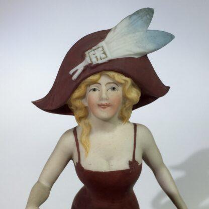 German bisque porcelain figure of a dancing lady, c. 1910-15079