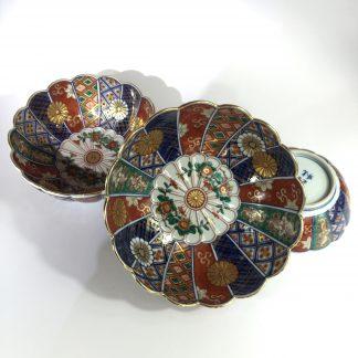 Set of three Japanese porcelain bowls of graduating size. c. 1910 -0