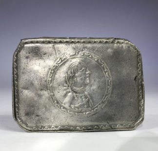 German Pewter snuff box, portrait of General Hans Joachim von Zieten, circa 1770-0