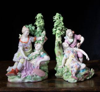 Pair of Derby figures, No. 76 'Renaldo & Armida' , and No. 75 'Procris & Cephalus ', c. 1775-0