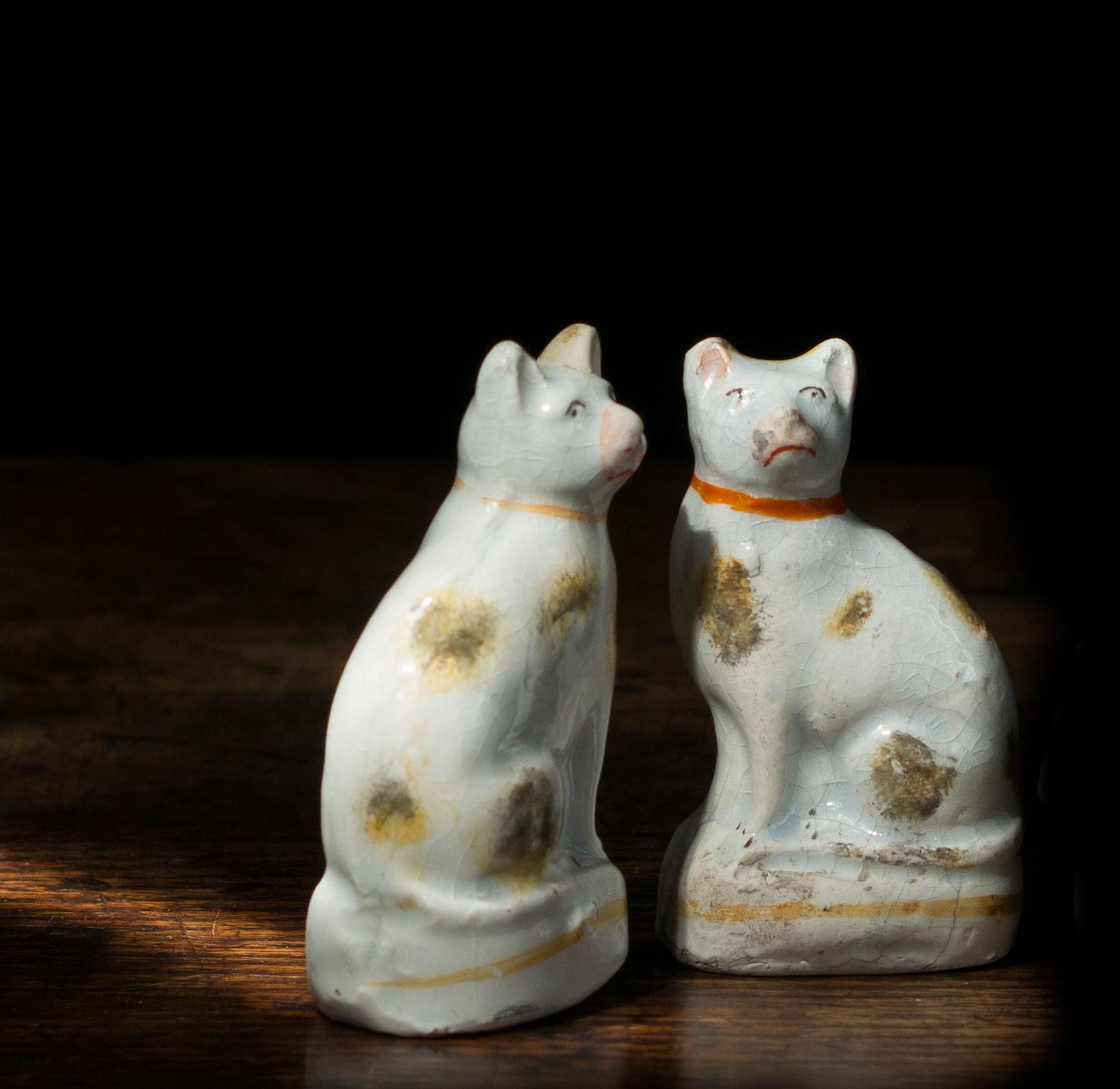 Rare Pair Of Staffordshire Cats C 1850
