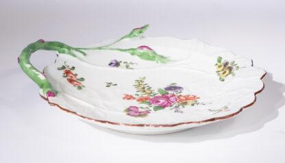 Worcester 'Blind Earl' dish, flower sprays, c.1765-15878