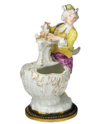 Meissen 'Winter' figural sauce tureen, by Kaendler c.1750-0