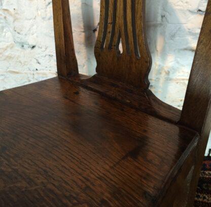 Country Hepplewhite oak chair, c.1800-15319