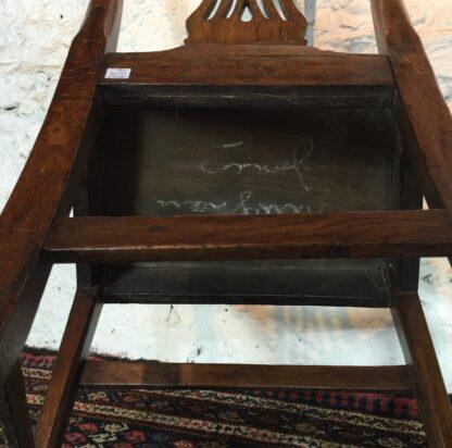 Country Hepplewhite oak chair, c.1800-15320