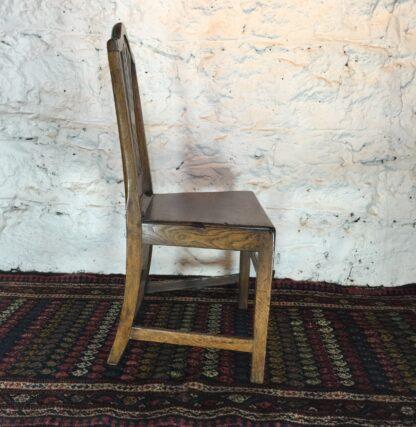 Country Hepplewhite oak chair, c.1800-15322