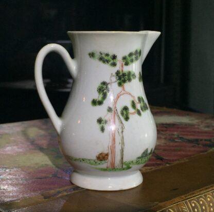 Early Worcester sparrowbeak jug, 'snake in a basket' pattern, c.1754-55-15377
