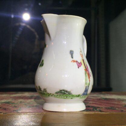 Early Worcester sparrowbeak jug, 'snake in a basket' pattern, c.1754-55-15380