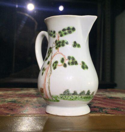 Early Worcester sparrowbeak jug, 'snake in a basket' pattern, c.1754-55-15381