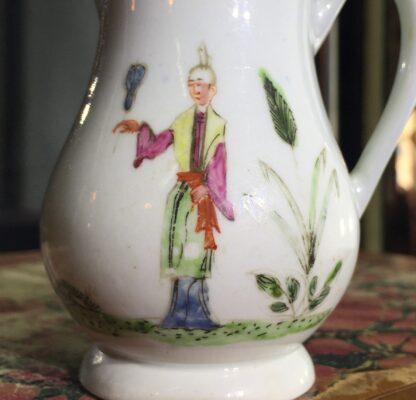 Early Worcester sparrowbeak jug, 'snake in a basket' pattern, c.1754-55-15382