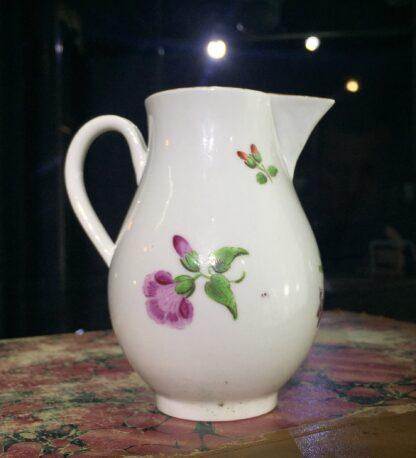 Worcester sparrowbeak jug, flower pattern, c. 1770-15477