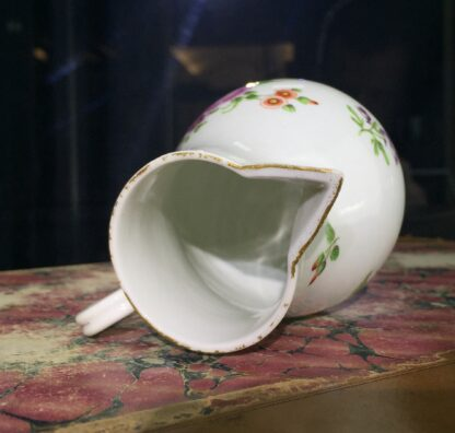 Worcester sparrowbeak jug, flower pattern, c. 1770-15479