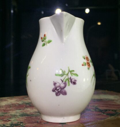 Worcester sparrowbeak jug, flower pattern, c. 1770-15481