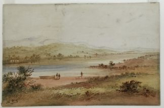 S.T.Gill, View on Cook's River, Near Sydney, poss. Tempe House, c. 1860-0