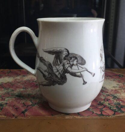 "Worcester bell shape mug, ""King of Prussia"" print, c. 1757-15510"