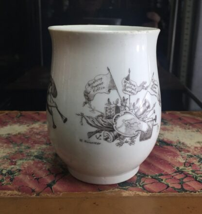 "Worcester bell shape mug, ""King of Prussia"" print, c. 1757-15511"