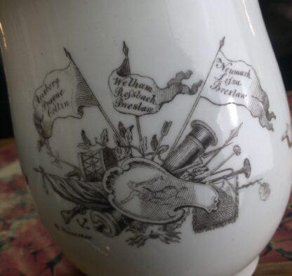 "Worcester bell shape mug, ""King of Prussia"" print, c. 1757-15519"