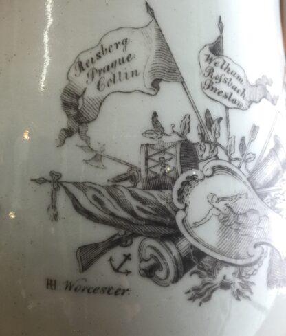 "Worcester bell shape mug, ""King of Prussia"" print, c. 1757-15520"