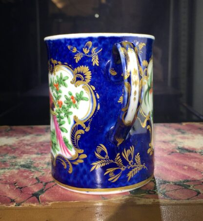 Small Worcester scale blue mug with birds, c. 1770-15766