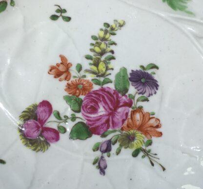Worcester 'Blind Earl' dish, flower sprays, c.1765-15826