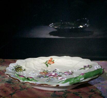 Worcester 'Blind Earl' dish, flower sprays, c.1765-15828