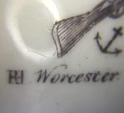 "Worcester bell shape mug, ""King of Prussia"" print, c. 1757-15866"