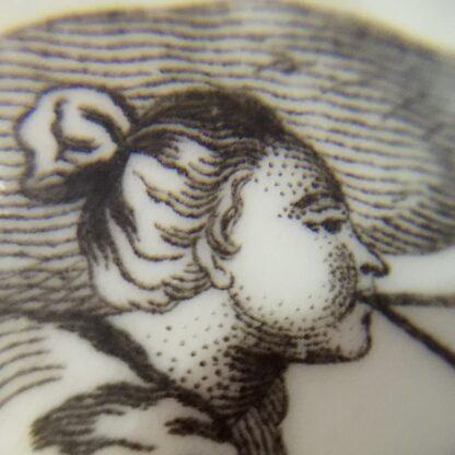 "Worcester bell shape mug, ""King of Prussia"" print, c. 1757-15871"