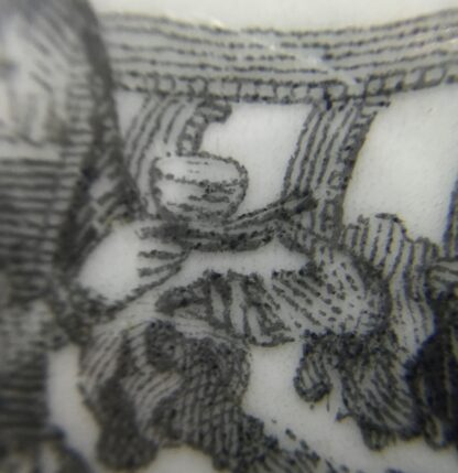 Worcester teapot printed with 'Maid and Page' pattern, c. 1760-15885