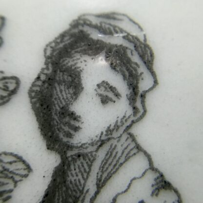 Worcester teapot printed with 'Maid and Page' pattern, c. 1760-15893