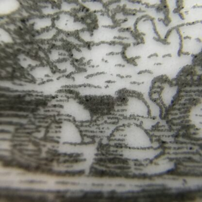 Worcester teapot printed with 'Maid and Page' pattern, c. 1760-15895