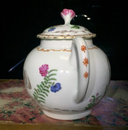 Worcester teapot with 'Pencilled Quail' pattern, c. 1778-15906