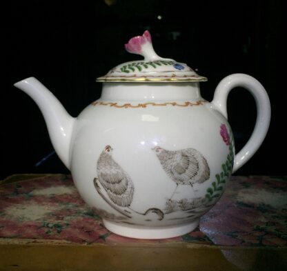 Worcester teapot with 'Pencilled Quail' pattern, c. 1778-15907