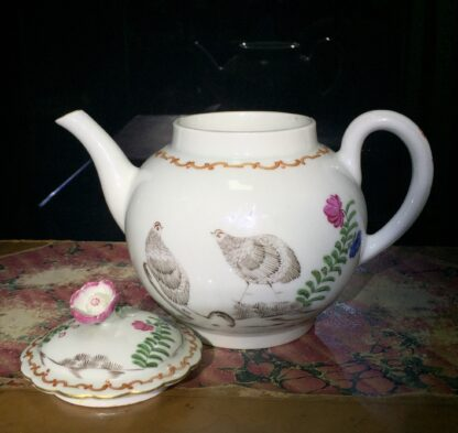 Worcester teapot with 'Pencilled Quail' pattern, c. 1778-15908