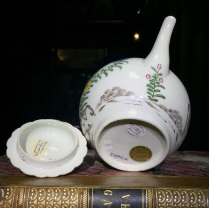 Worcester teapot with 'Pencilled Quail' pattern, c. 1778-15910
