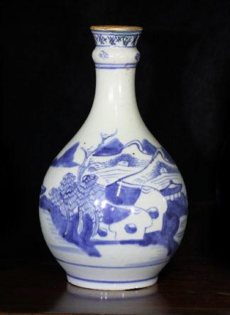 Chinese porcelian guglet, blue & white Island scenes, c. 1785-0