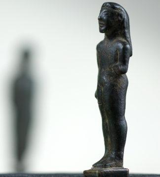 Archaic Greek bronze Kouros figure, c.525 BC-0