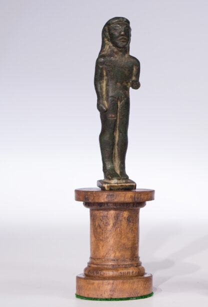 Archaic Greek bronze Kouros figure, c.525 BC-16069