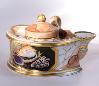 Flight Barr & Barr inkwell, well painted shells-0
