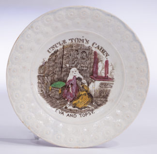 Child's plate - UNCLE TOM'S CABIN - EVA AND TOPSY - C. 1840 -0
