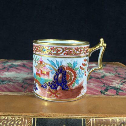 Flight Barr & Barr Worcester coffee can, man & parrot, c. 1810-16228