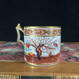 Flight Barr & Barr Worcester coffee can, man & parrot, c. 1810-0