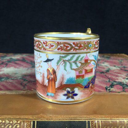 Flight Barr & Barr Worcester coffee can, man & parrot, c. 1810-16230