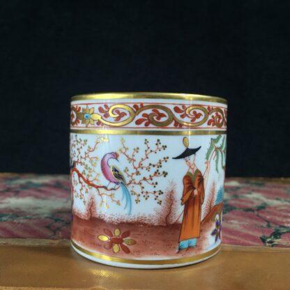 Flight Barr & Barr Worcester coffee can, man & parrot, c. 1810-16231