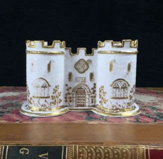 Minton Castle deskset, bone china c. 1830-0