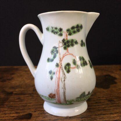 Early Worcester sparrowbeak jug, 'snake in a basket' pattern, c.1754-55-23738