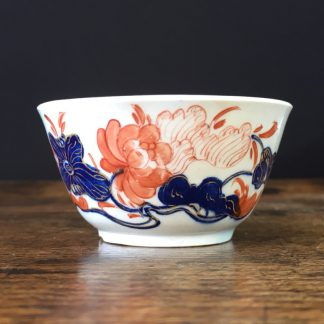 Bow teabowl with Imari pattern, '30' mark, c. 1760-0