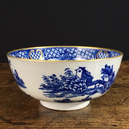 Worcester small punch bowl, 'Argument' pattern, c. 1780-23558