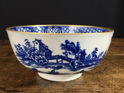 Worcester small punch bowl, 'Argument' pattern, c. 1780-0