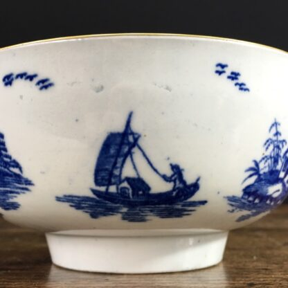 Worcester small punch bowl, 'Argument' pattern, c. 1780-23557