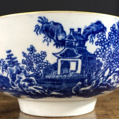 Worcester small punch bowl, 'Argument' pattern, c. 1780-23560